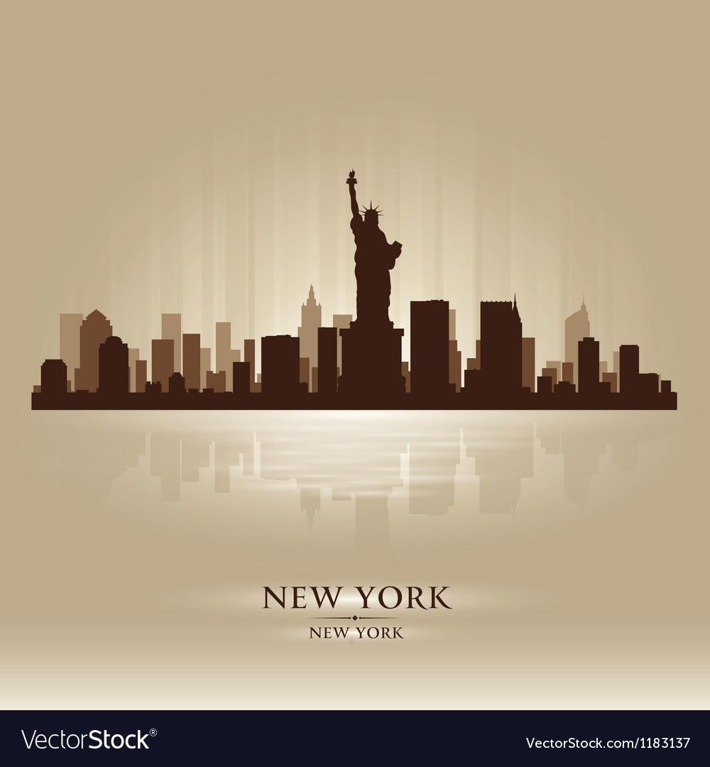 New york skyline city silhouette vector | Price: 1 Credit (USD $1)
