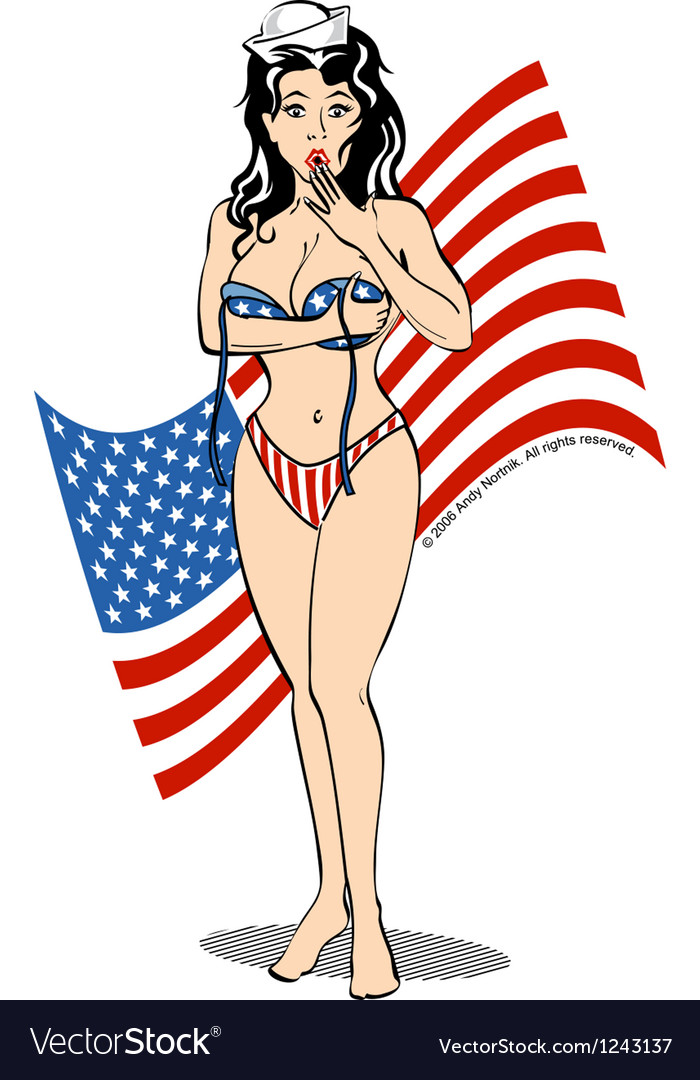 Patriot usa girl vector | Price: 1 Credit (USD $1)
