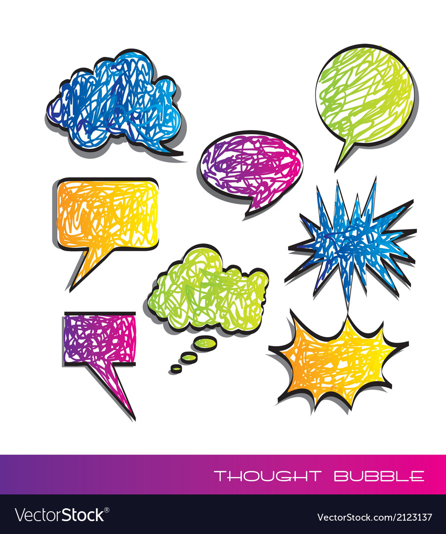 Scrawled text balloons vector | Price: 1 Credit (USD $1)