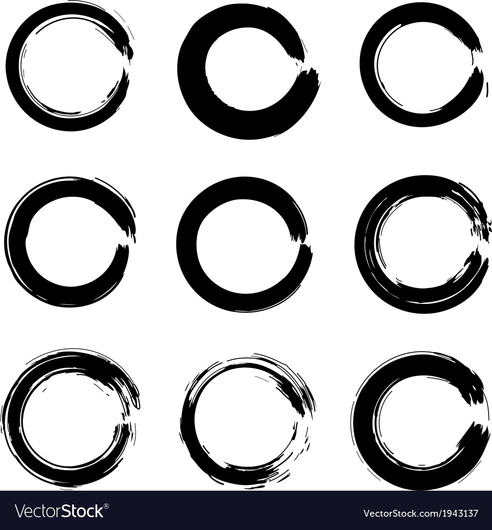 Set of ink circles vector | Price: 1 Credit (USD $1)