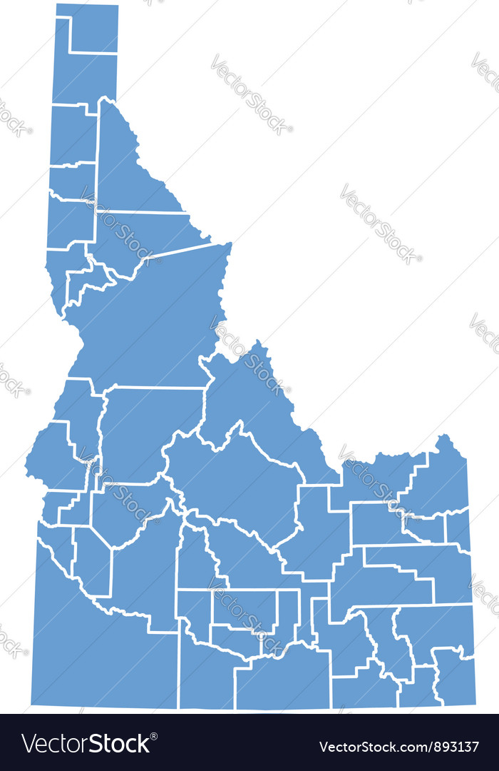 State map of idaho vector | Price: 1 Credit (USD $1)
