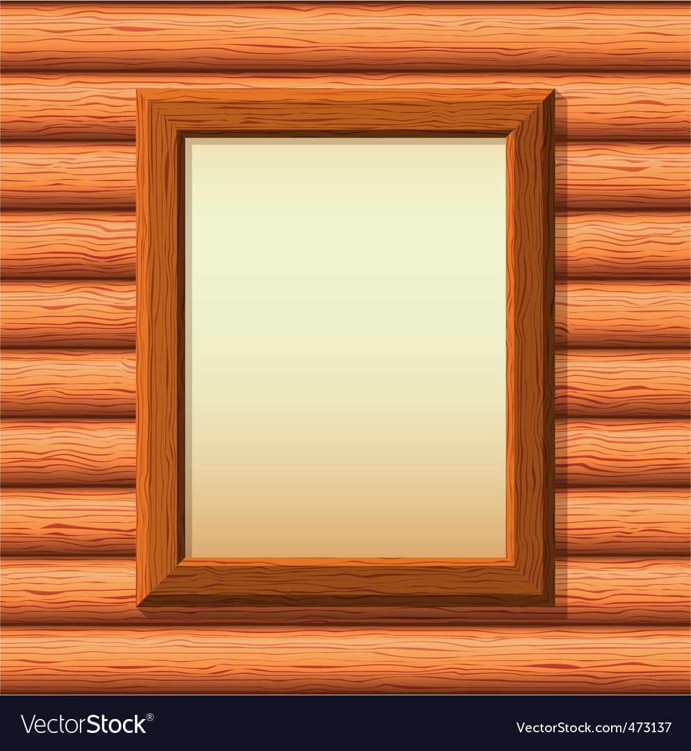 Wooden framework on a wall vector | Price: 1 Credit (USD $1)