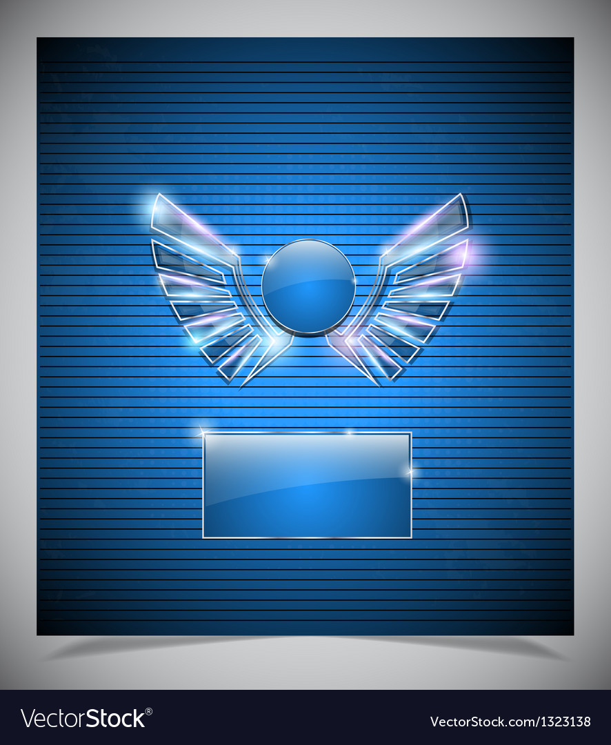 Abstraction blue background with wings vector | Price: 1 Credit (USD $1)