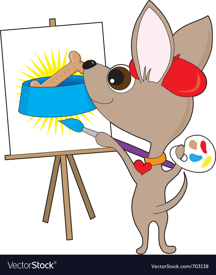 Chihuahua artist vector | Price: 1 Credit (USD $1)