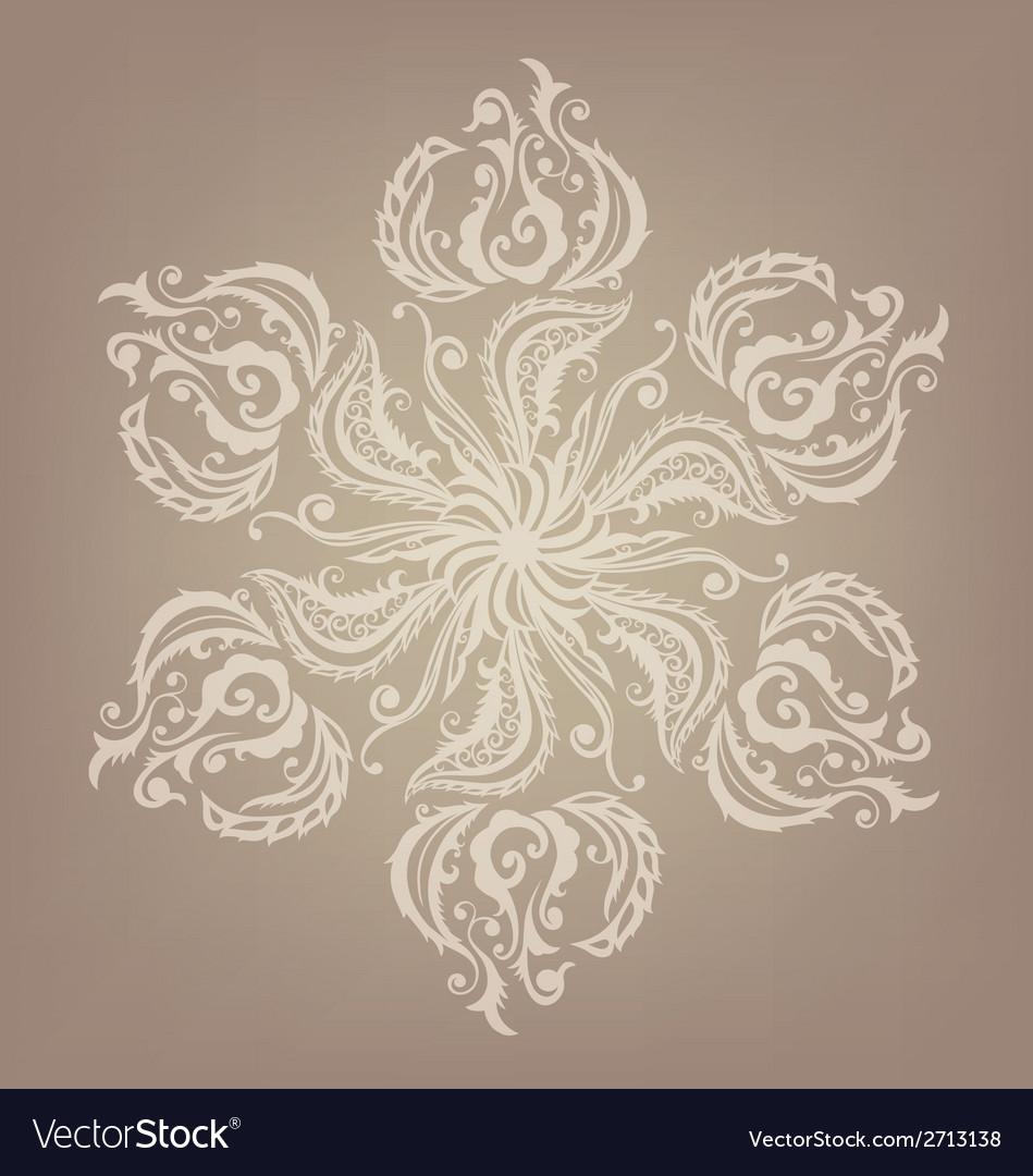 Floral oriental mandala design vector | Price: 1 Credit (USD $1)