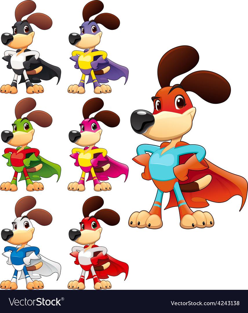 Funny dog super hero vector | Price: 1 Credit (USD $1)