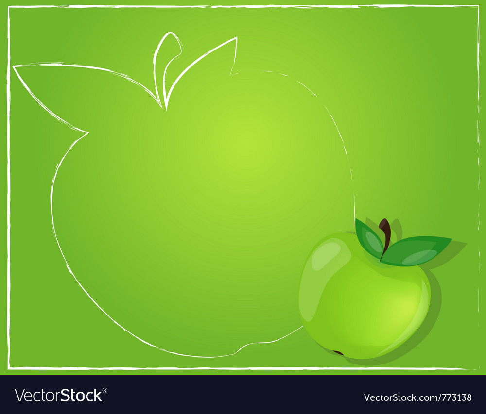 Green apple background vector | Price: 1 Credit (USD $1)