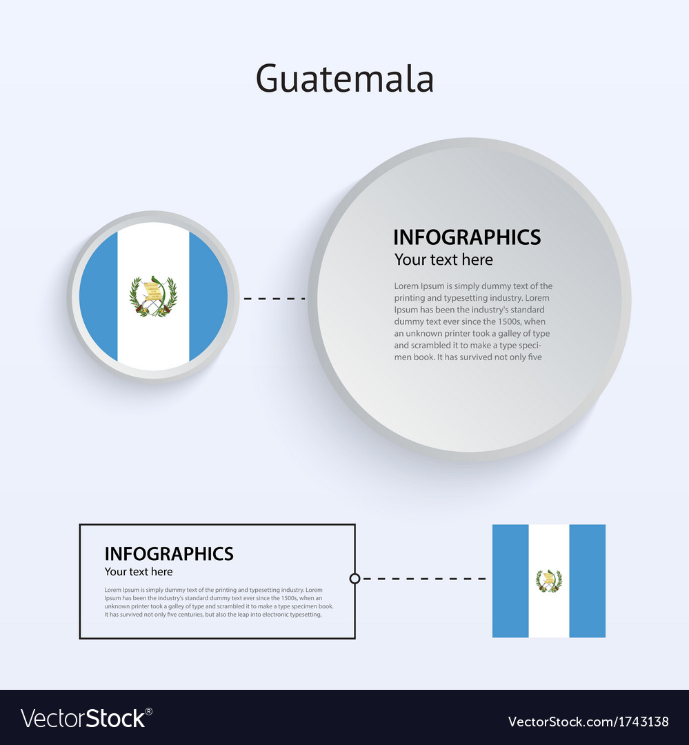 Guatemala country set of banners vector | Price: 1 Credit (USD $1)