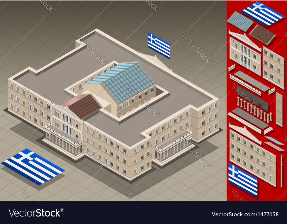 Isometric greek parliament vector | Price: 1 Credit (USD $1)