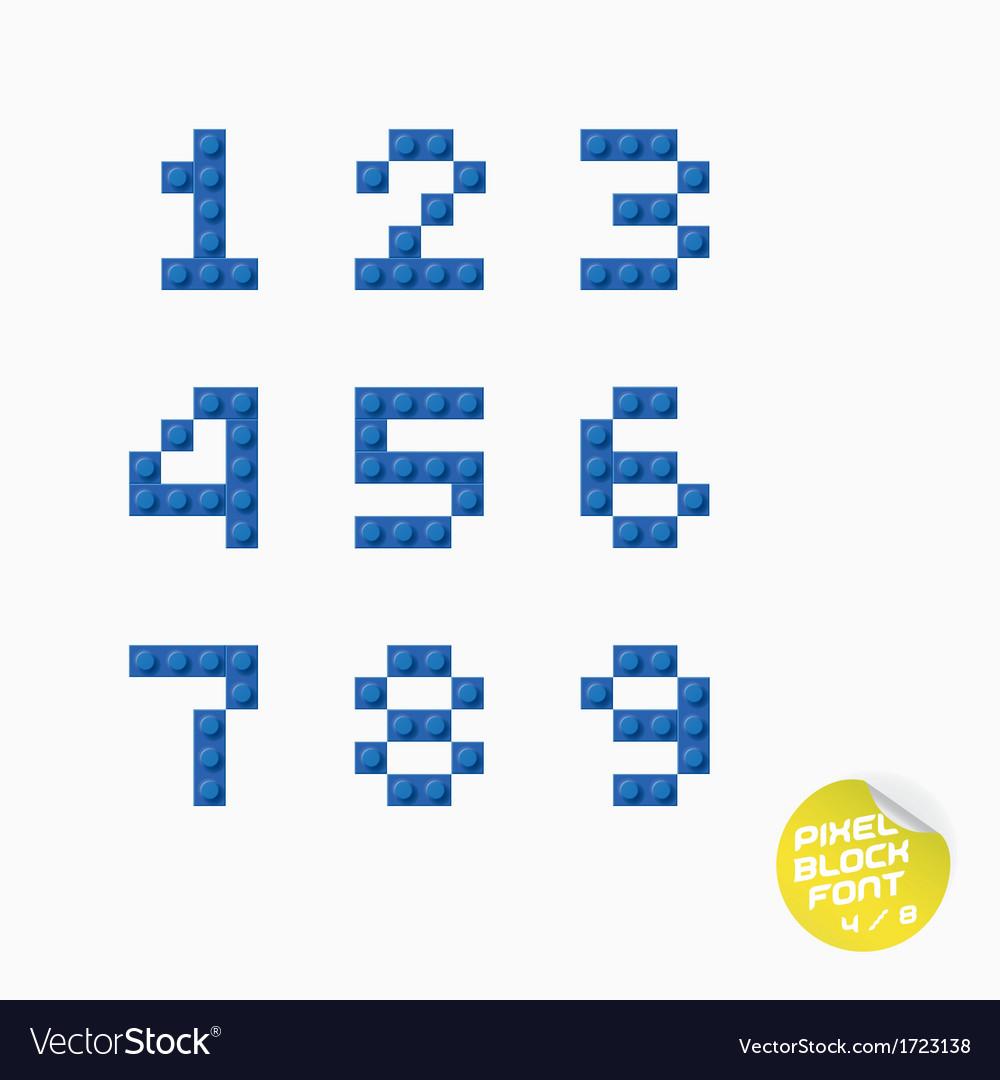 Unique pixel block alphabet vector   Price: 1 Credit (USD $1)