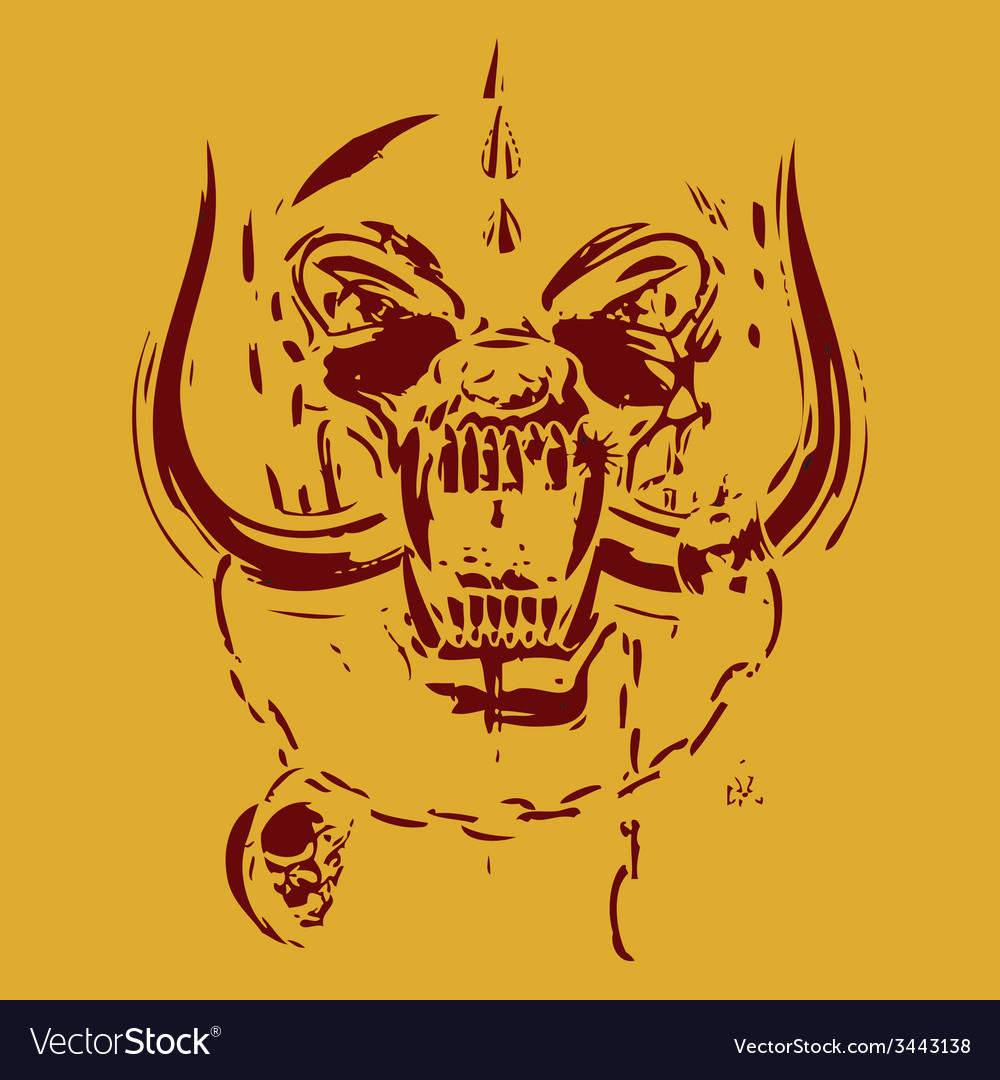 Yellow and red skull vector | Price: 1 Credit (USD $1)