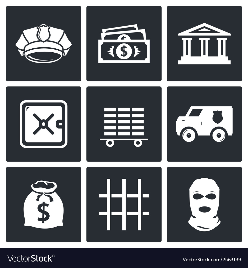 Bank icons set vector | Price: 1 Credit (USD $1)