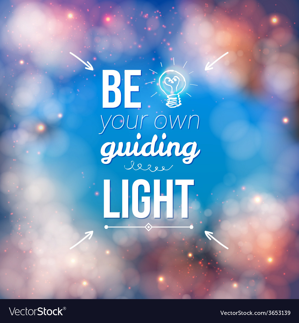 Be your own guiding light concept vector | Price: 1 Credit (USD $1)