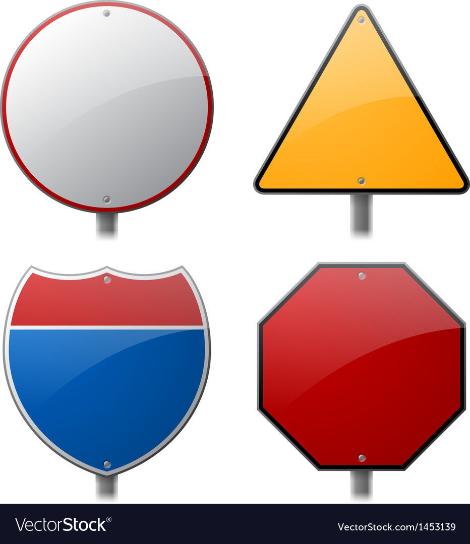 Blank highway signs vector | Price: 1 Credit (USD $1)