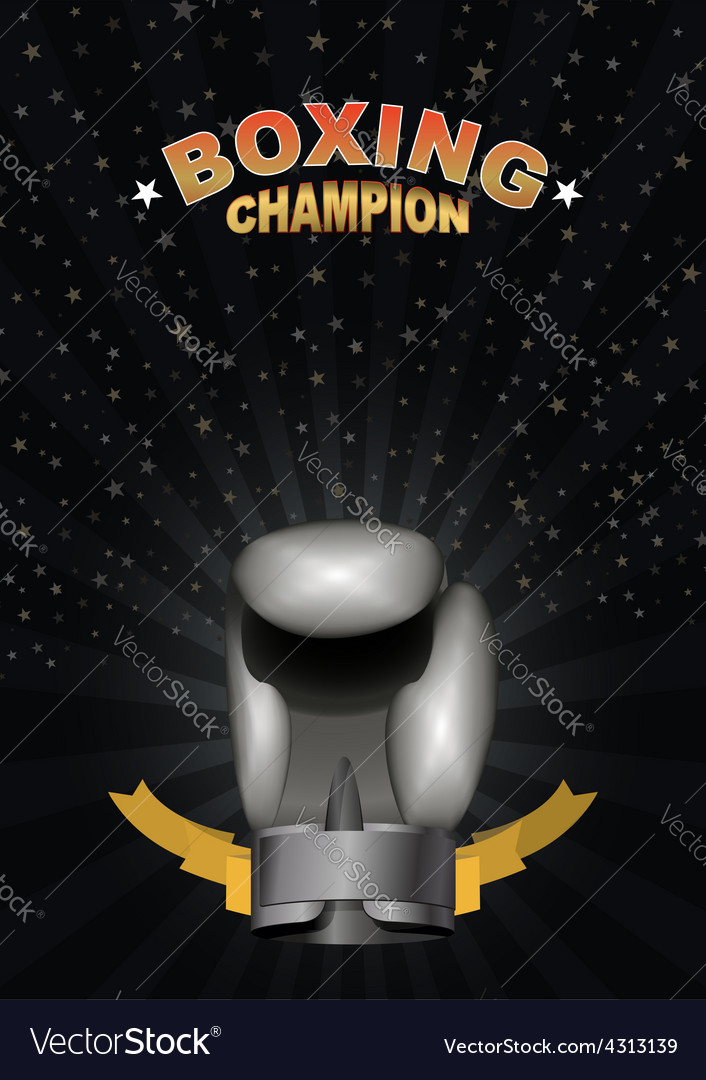 Boxing gloves template for championship awards vector | Price: 1 Credit (USD $1)