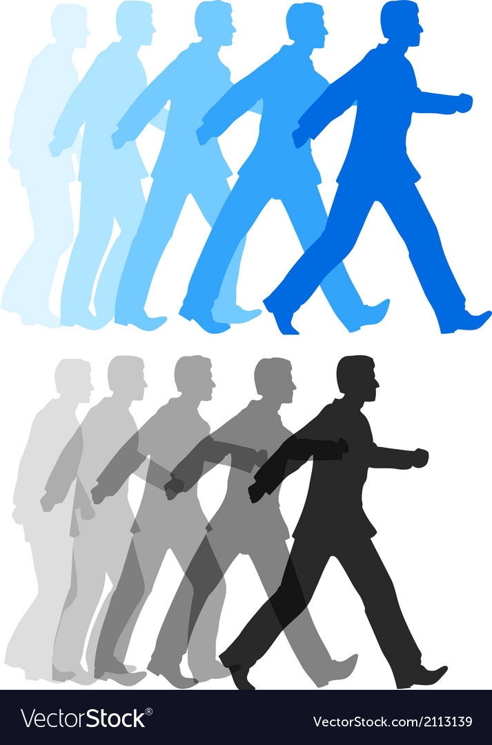 Business man walking forward action vector | Price: 1 Credit (USD $1)