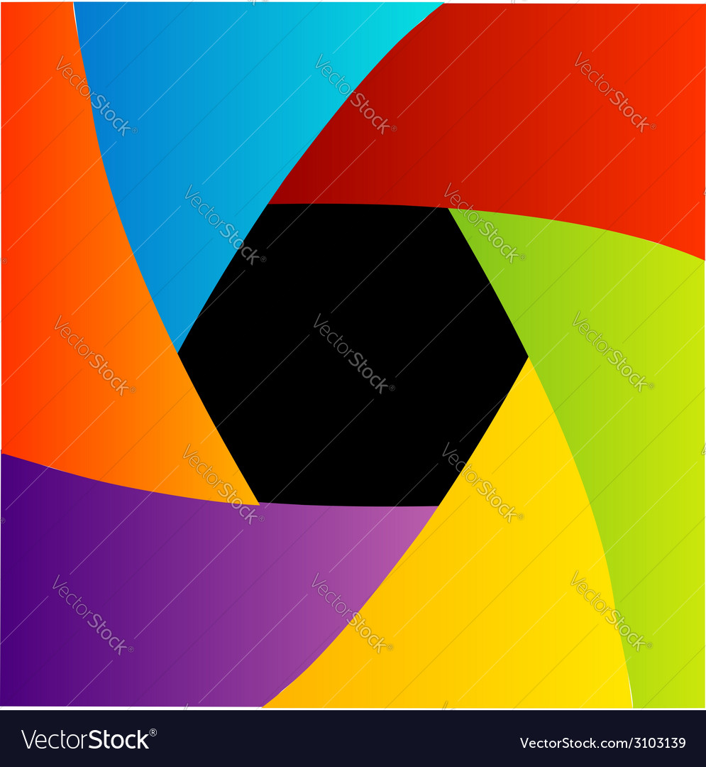 Colorful shutter aperture background vector | Price: 1 Credit (USD $1)