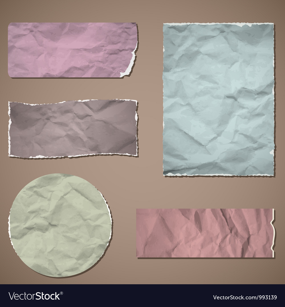 Crumpled paper vector | Price: 1 Credit (USD $1)