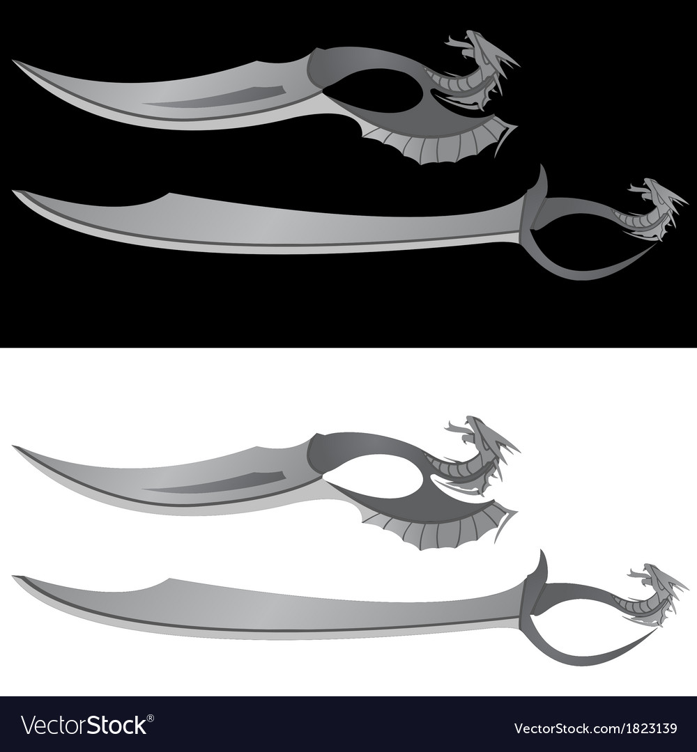 Dragons saber and knife vector | Price: 1 Credit (USD $1)