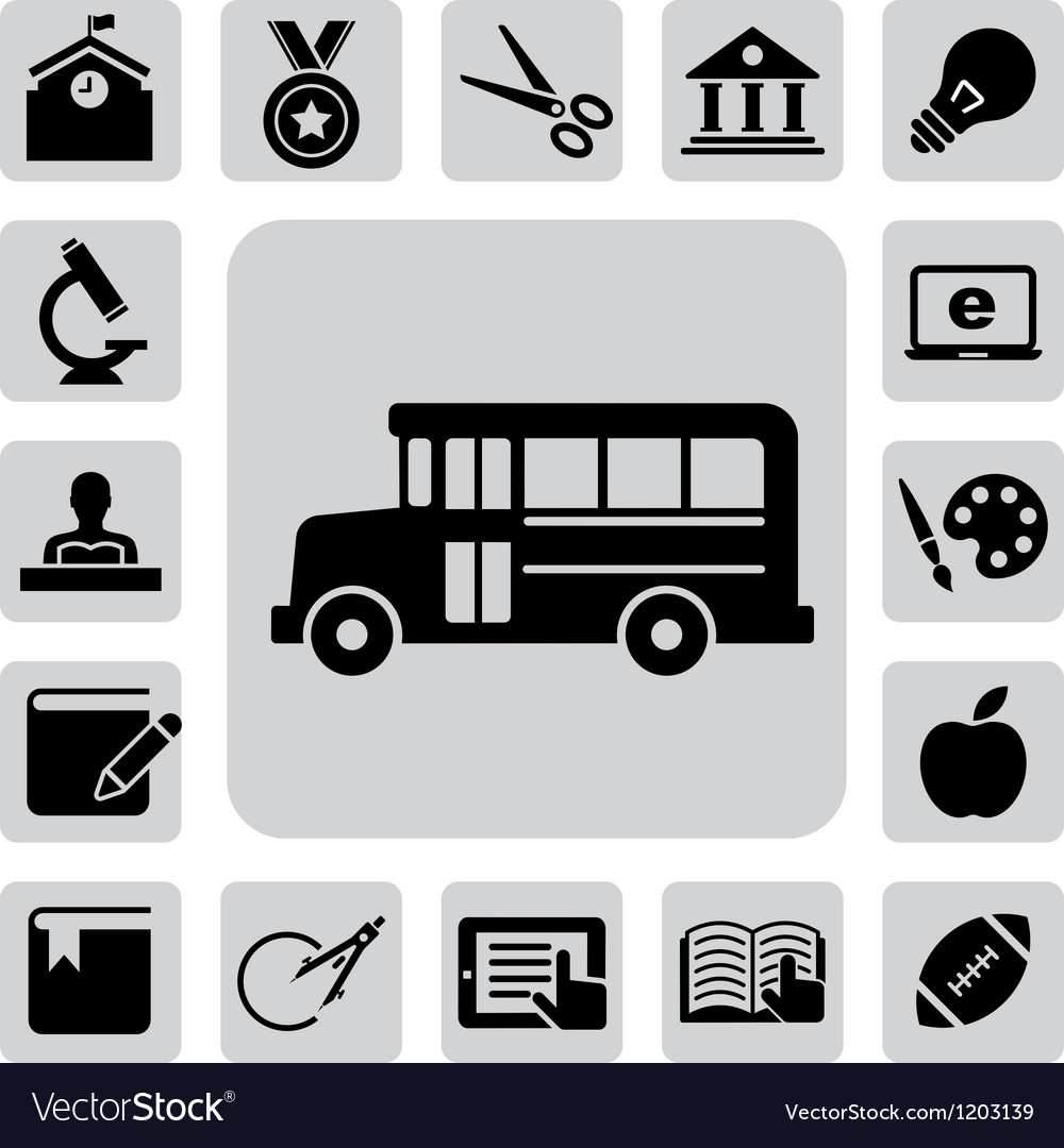 Education icons set eps 10 vector | Price: 1 Credit (USD $1)