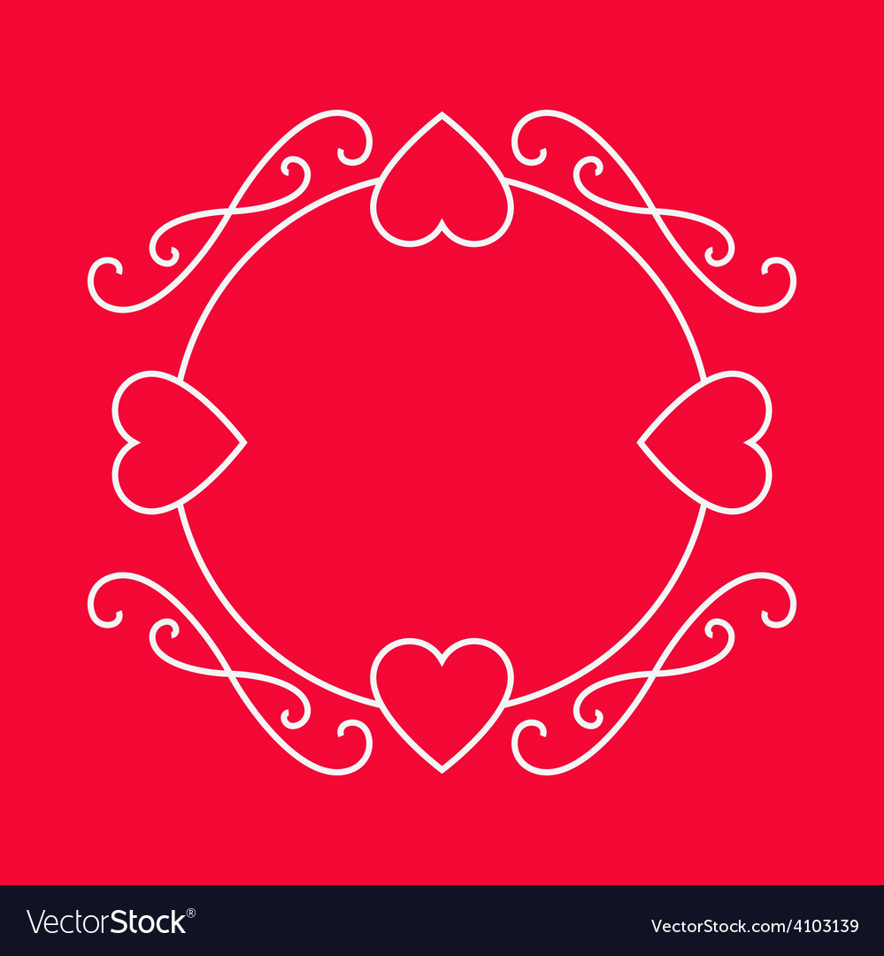 Elegant frame for love wishes valentines day vector | Price: 1 Credit (USD $1)