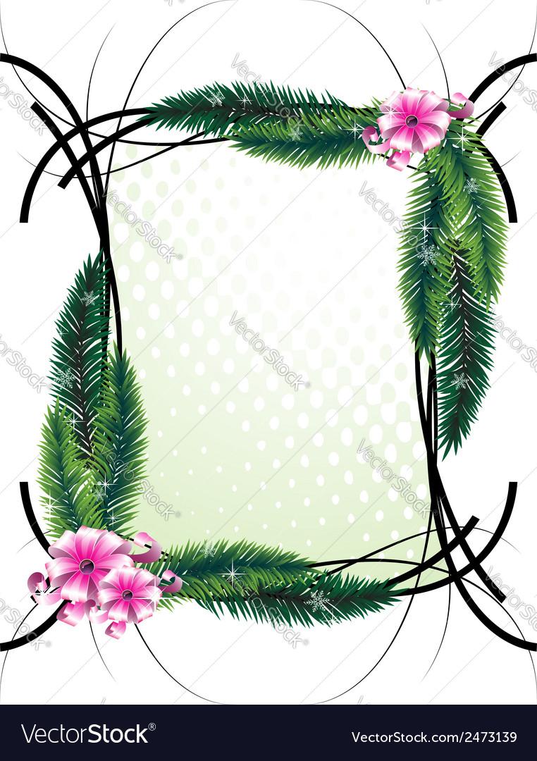 Elegant greeting frame vector | Price: 1 Credit (USD $1)