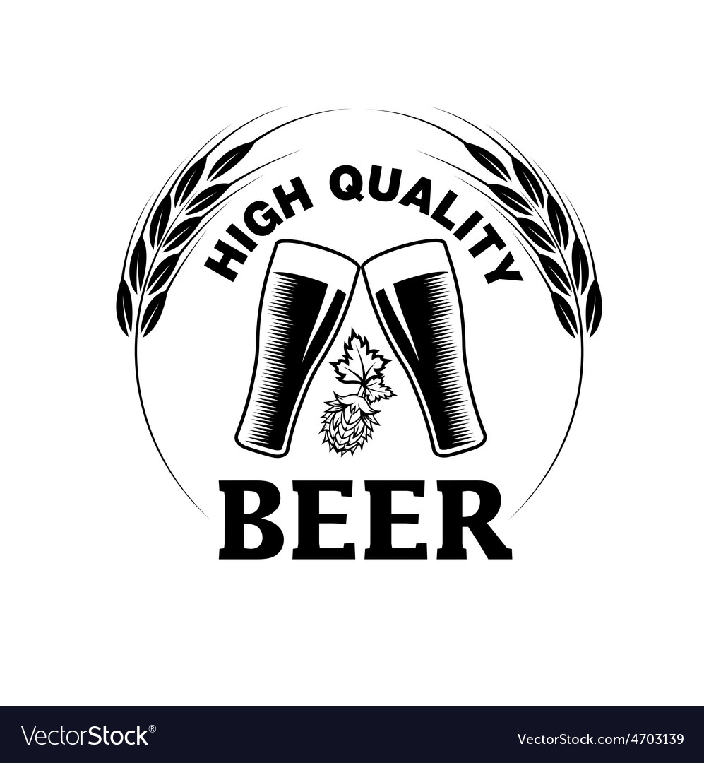 High quality beer emblem vector | Price: 1 Credit (USD $1)