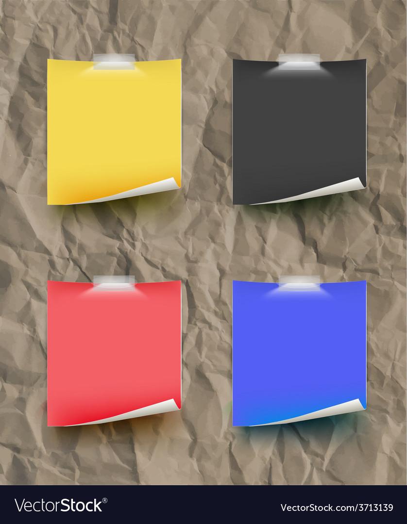 Note papar color set on paper texture texture vector | Price: 1 Credit (USD $1)