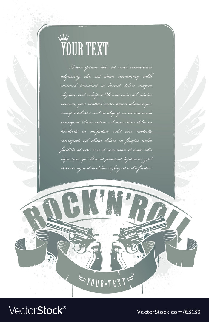 Rock n roll banner vector | Price: 1 Credit (USD $1)