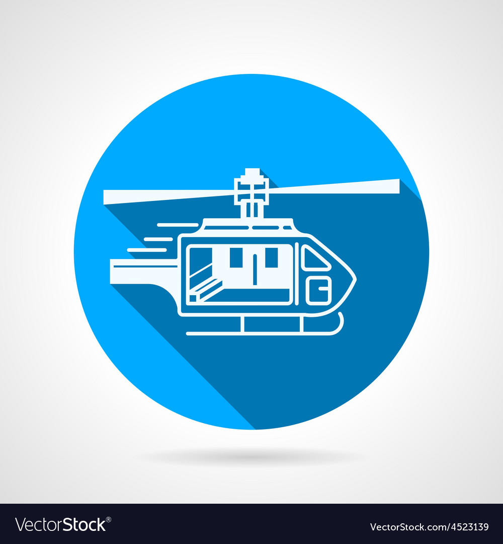 Round icon for ambulance helicopter vector | Price: 1 Credit (USD $1)