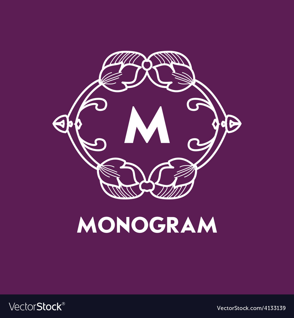 Simple and elegant monogram design template with vector | Price: 1 Credit (USD $1)