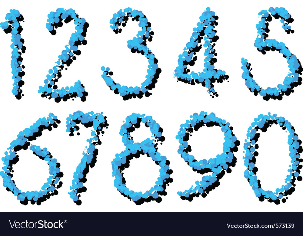 Splatter numbers vector | Price: 1 Credit (USD $1)
