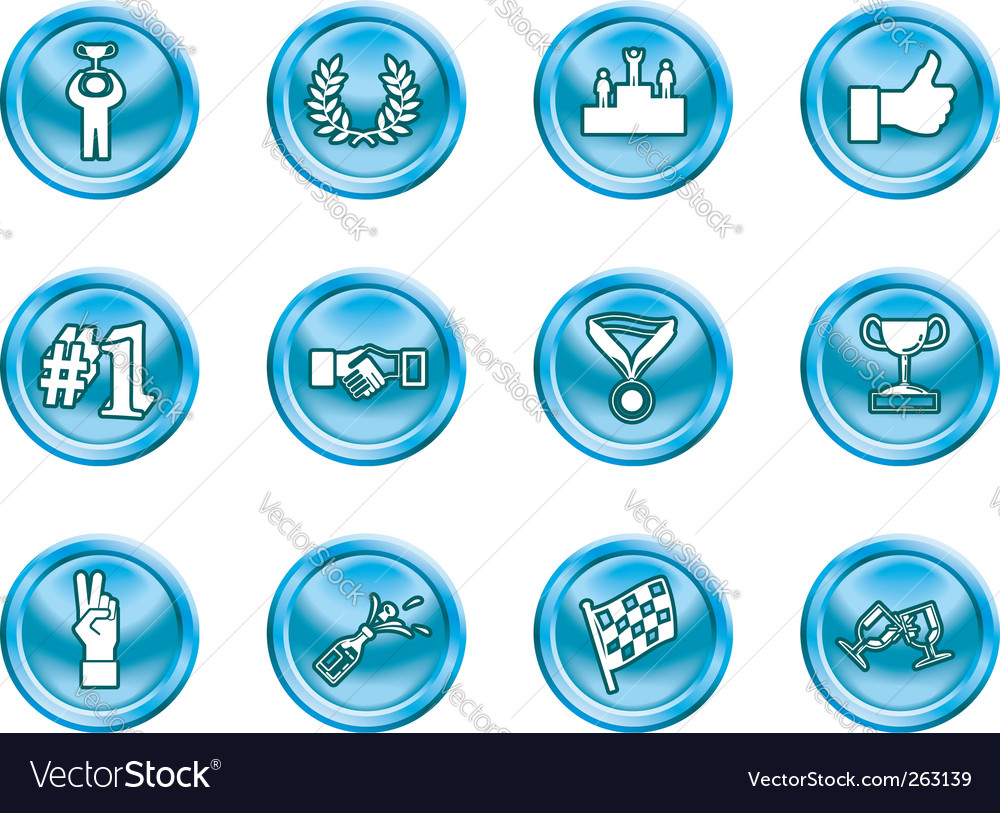 Success and vctory icons vector | Price: 1 Credit (USD $1)