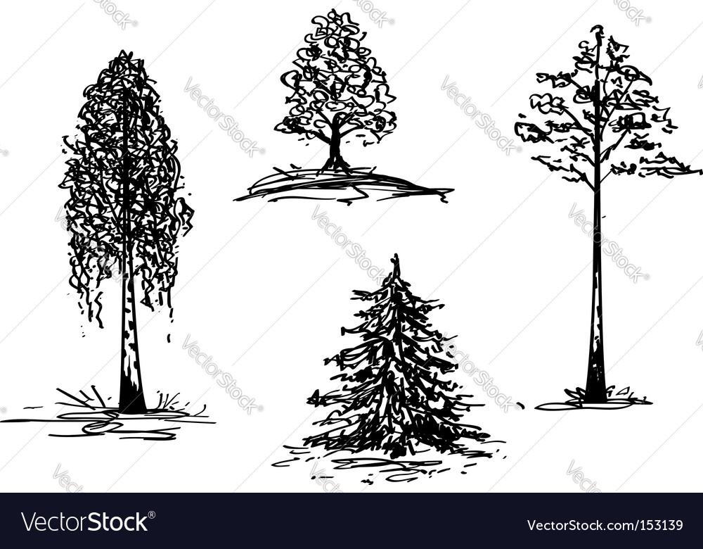 Trees vector | Price: 1 Credit (USD $1)
