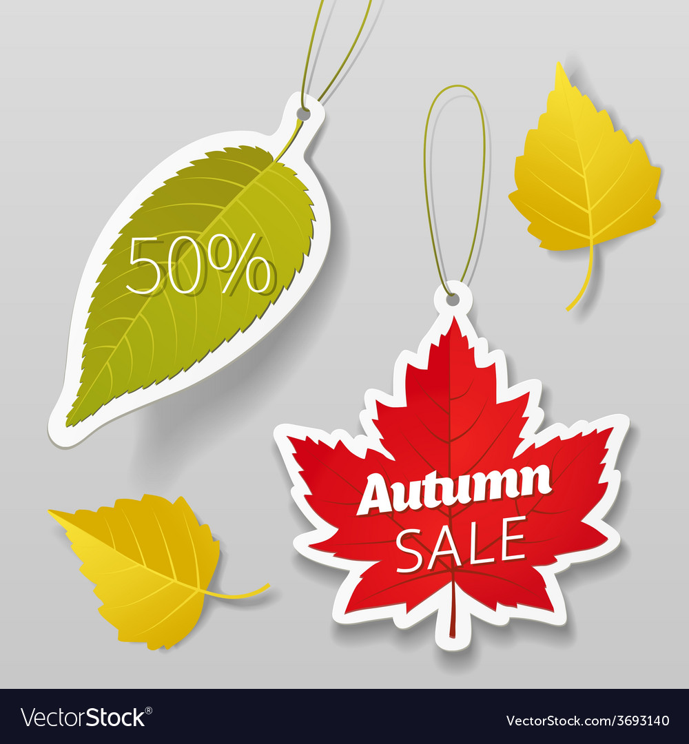 Autumn sale tags 01 vector | Price: 1 Credit (USD $1)