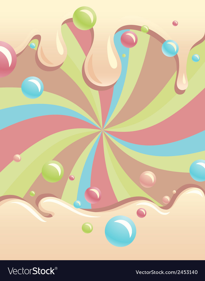 Background with flowing syrup and color bubbles vector | Price: 1 Credit (USD $1)