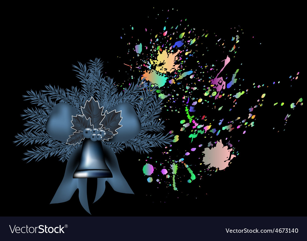 Bell and christmas tree vector   Price: 1 Credit (USD $1)
