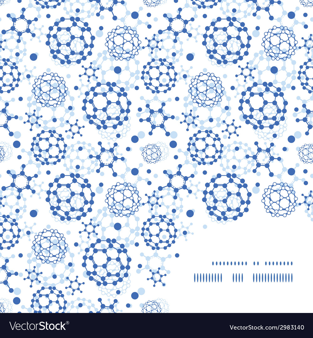 Blue molecules texture frame corner pattern vector | Price: 1 Credit (USD $1)