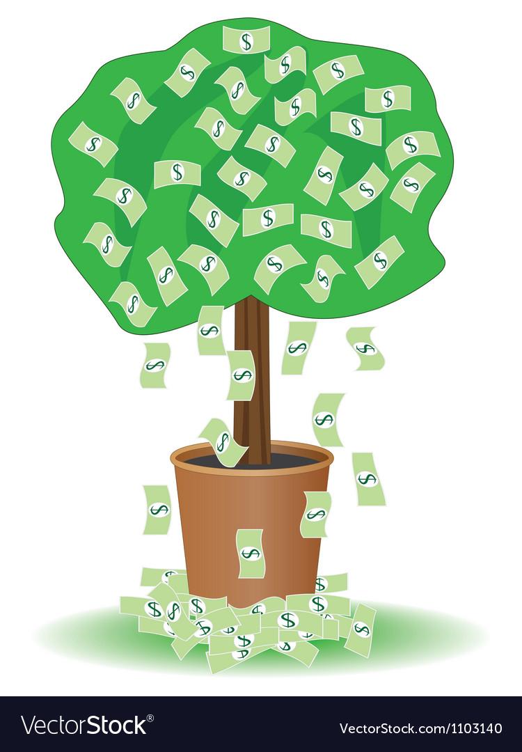 Cash tree vector | Price: 1 Credit (USD $1)