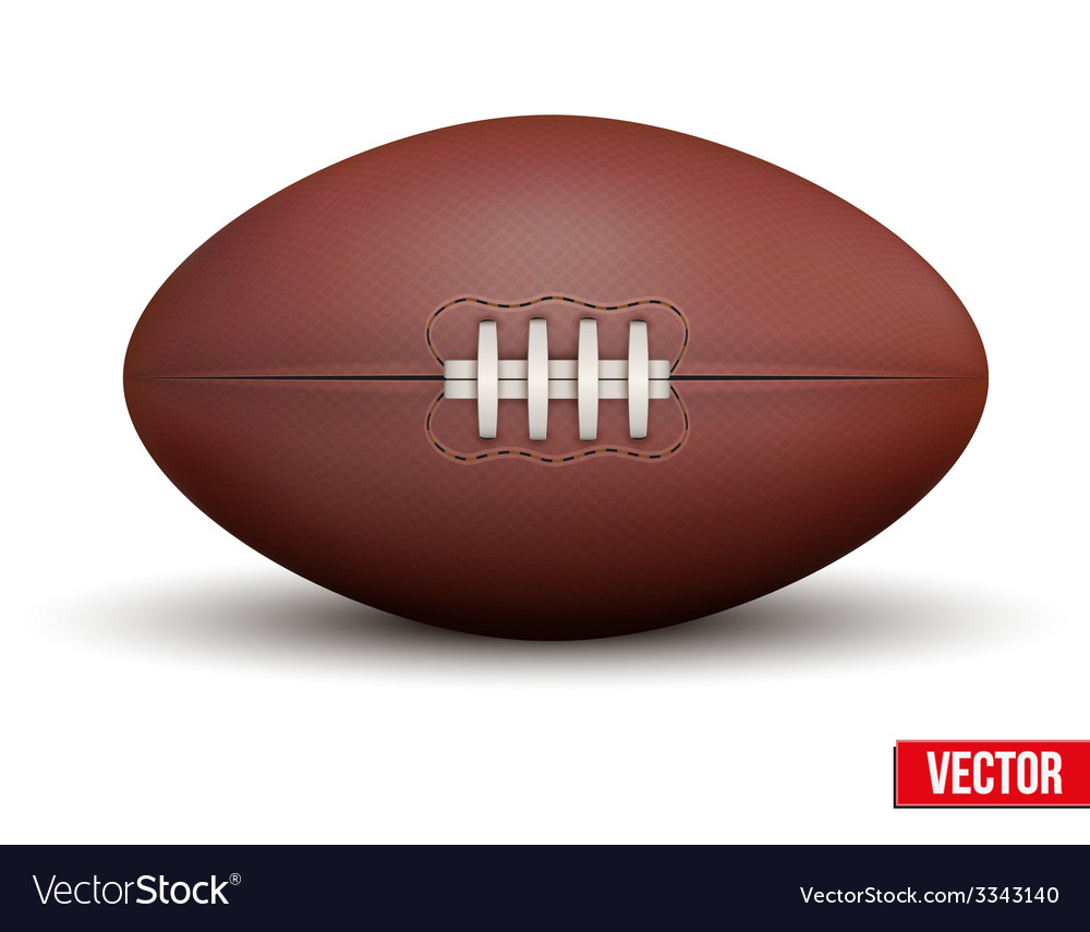 Classic rugby ball isolated on a white background vector   Price: 1 Credit (USD $1)