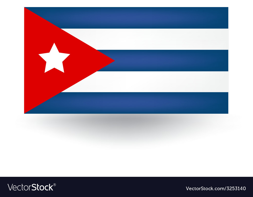 Cuban flag vector | Price: 1 Credit (USD $1)