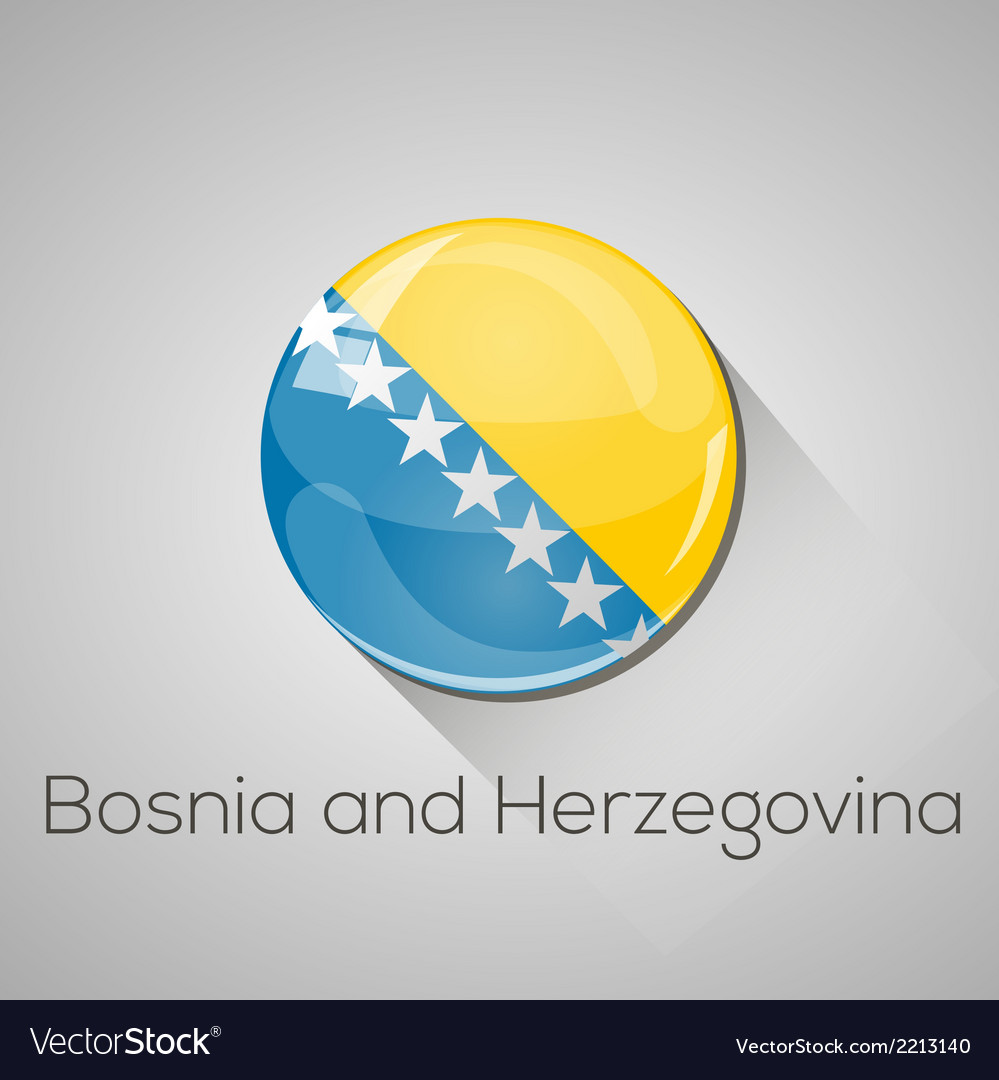 European flags set - bosnia and herzegovina vector | Price: 1 Credit (USD $1)