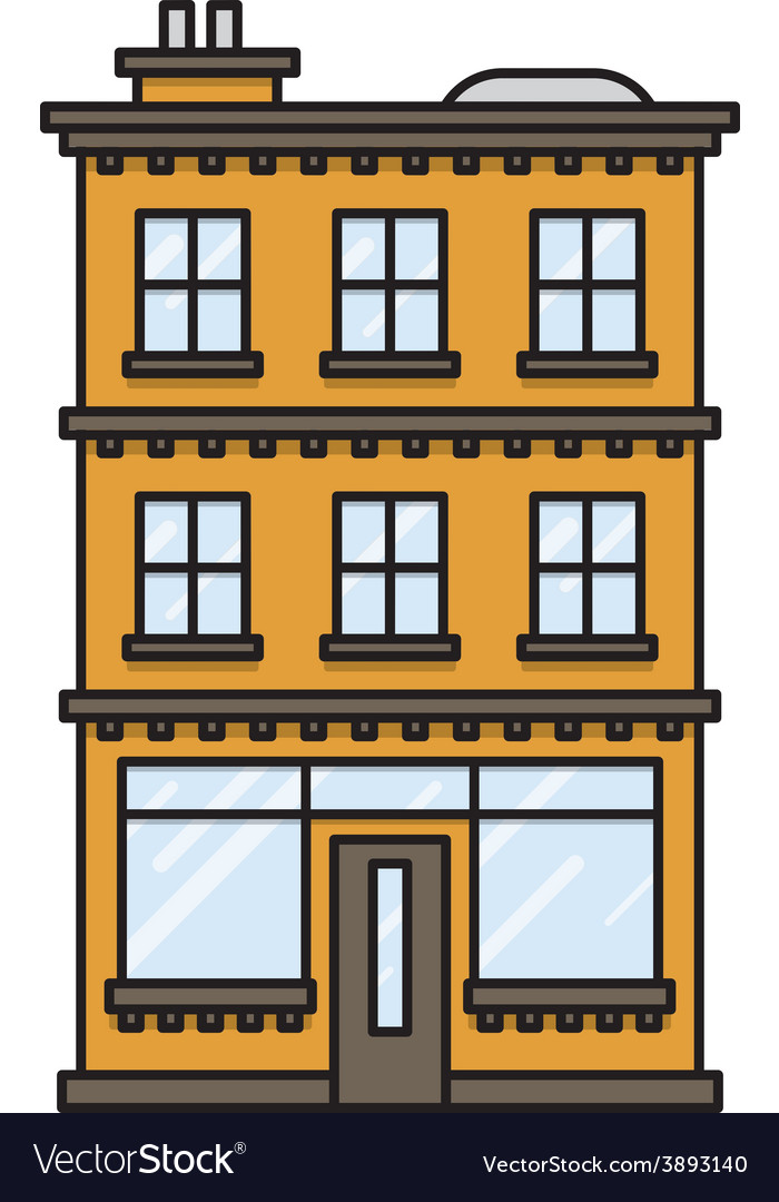 House with a bar or shop vector | Price: 1 Credit (USD $1)