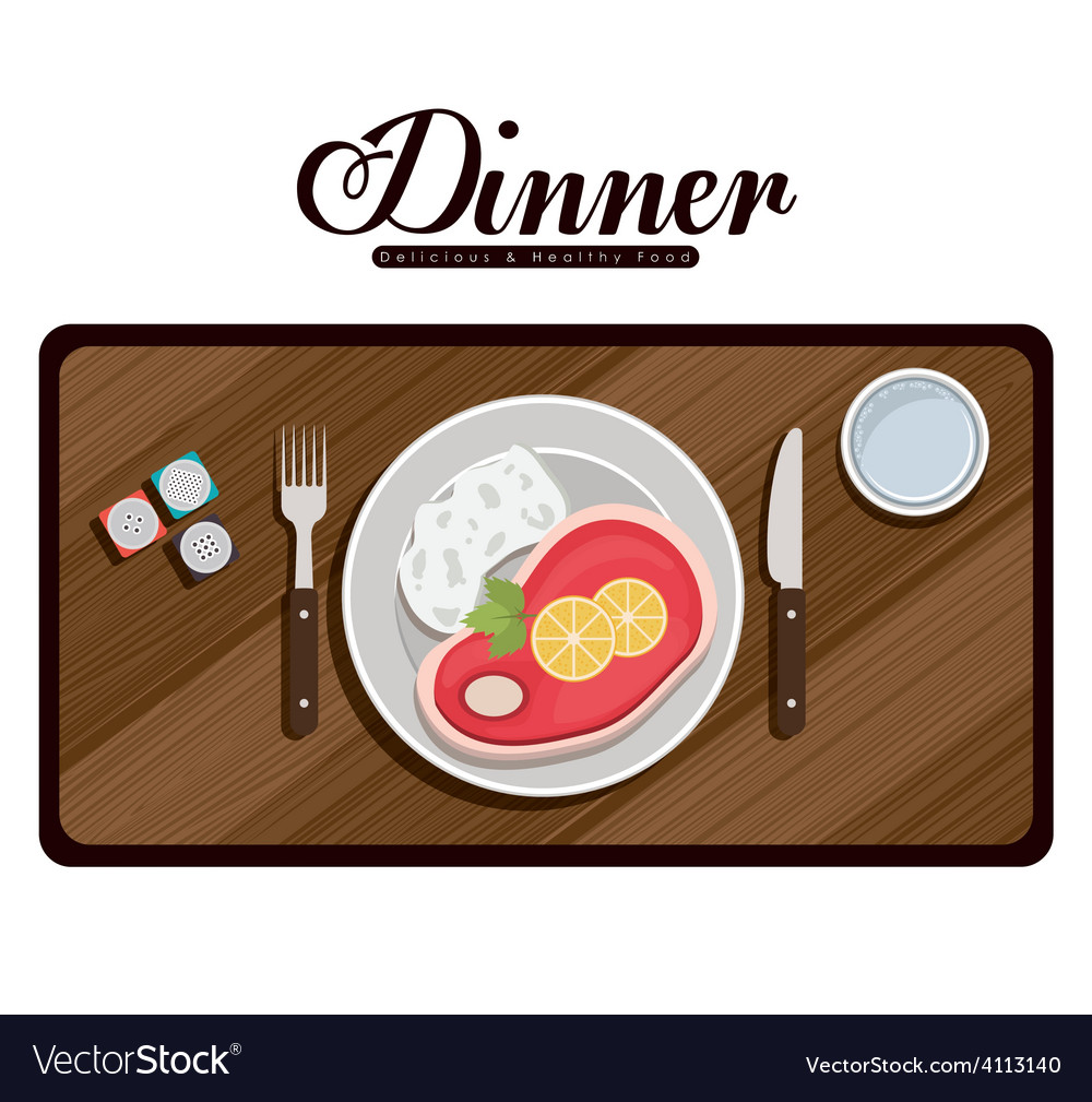 Menu and food design vector | Price: 1 Credit (USD $1)