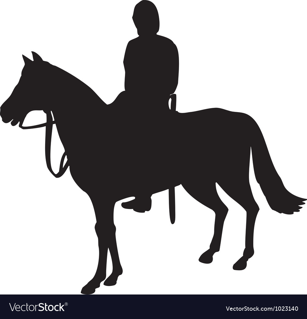 Military horseman on horseback vector | Price: 1 Credit (USD $1)
