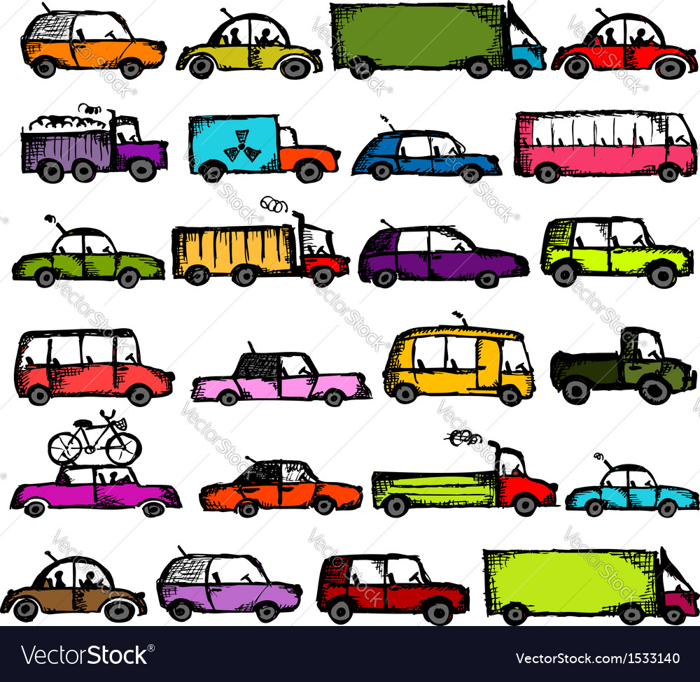 Set of cars collection for your design vector | Price: 1 Credit (USD $1)