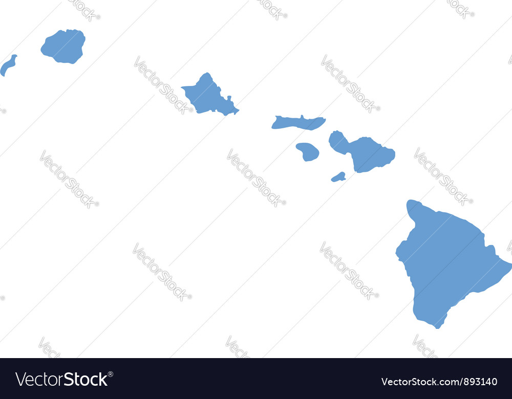 State map of hawaii by counties vector | Price: 1 Credit (USD $1)