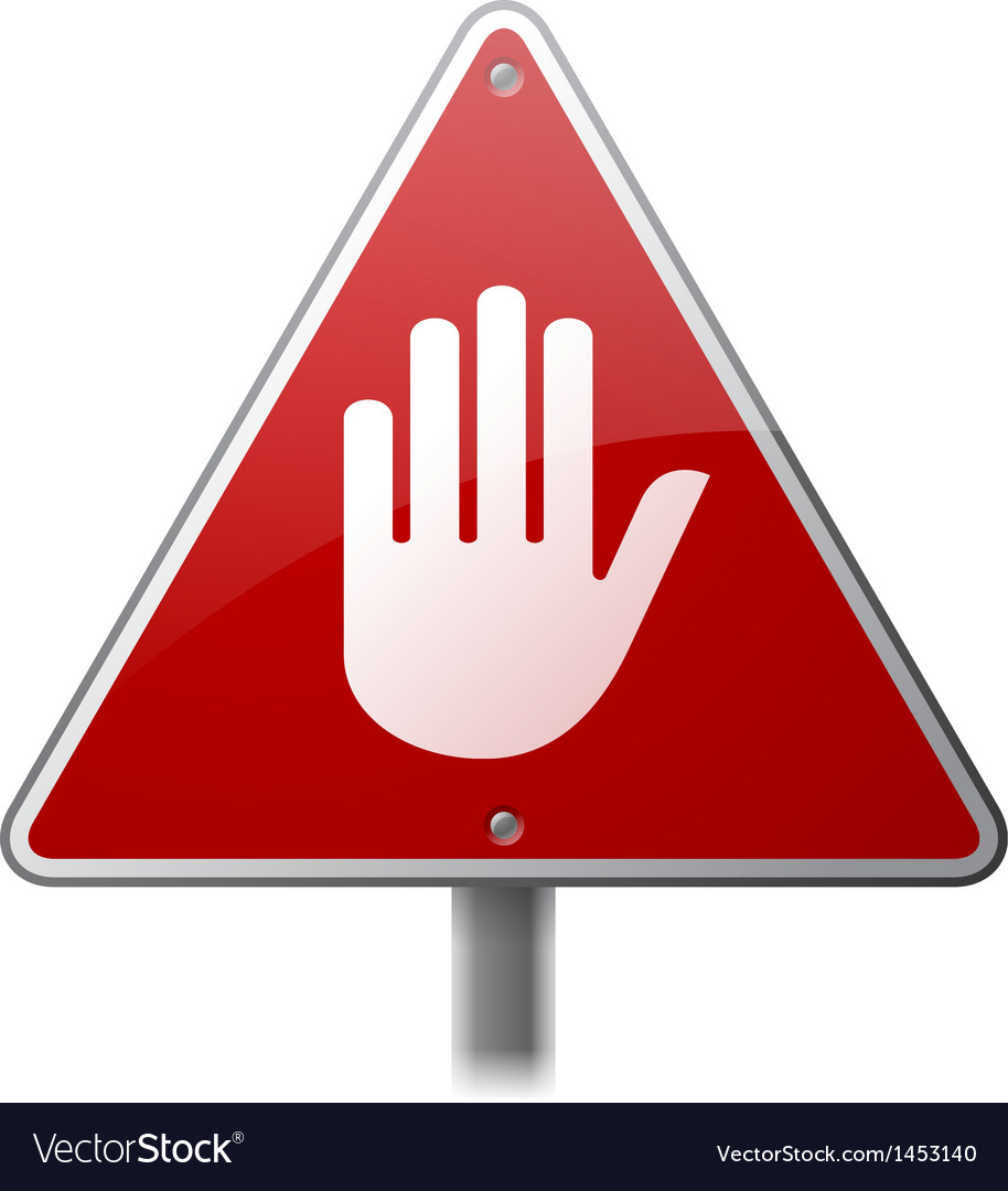 Stop hand sign vector | Price: 1 Credit (USD $1)