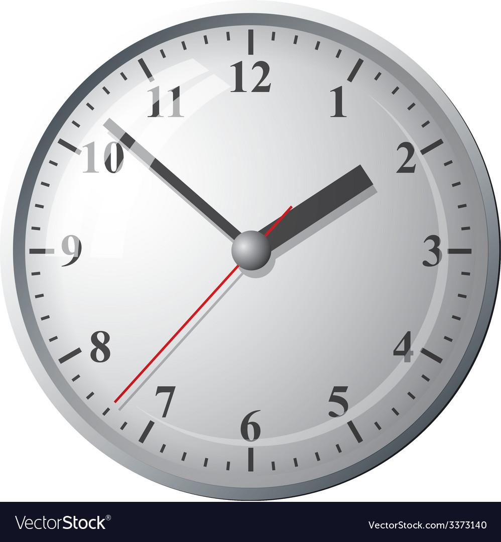 Wall mounted digital clock vector | Price: 1 Credit (USD $1)