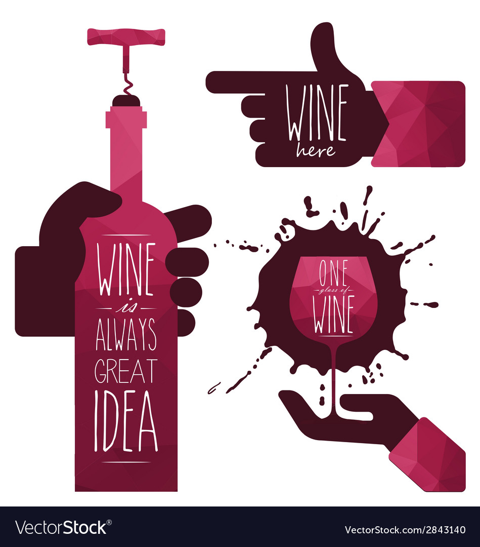 Wine glass and wine bottle vector | Price: 1 Credit (USD $1)